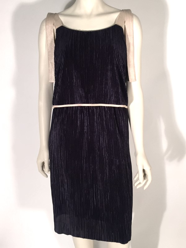 July Navy Pleated